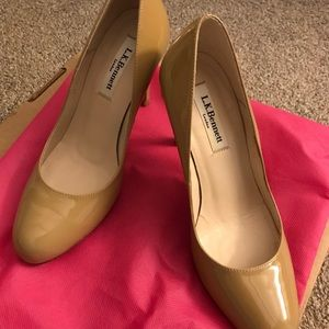 LK Bennett Nude Patent Shoes